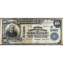 1902 PB $10 Newton, IL National Currency Note CH# 5869