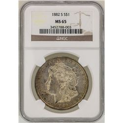 1882-S $1 Morgan Silver Dollar Coin NGC MS65