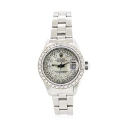 Stainless Steel Ladies Rolex Oyster Perpetual Datejust Wristwatch