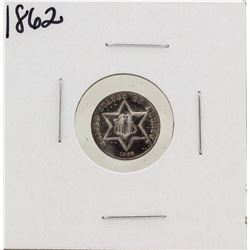 1862 Silver Three Cent Piece Coin