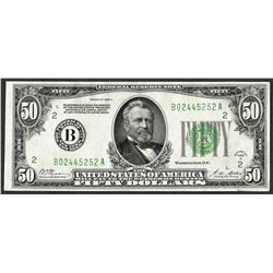 1928A $50 Federal Reserve Note