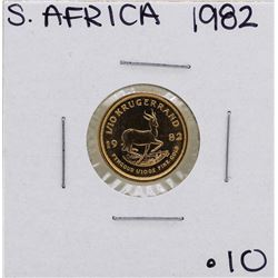 1982 South Africa Krugerrand 1/10 oz. Gold Coin