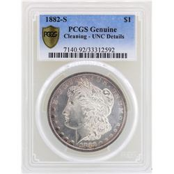1882-S $1 Morgan Silver Dollar Coin PCGS Unc Details