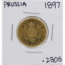 1897-A Germany-Prussia 20 Marks Gold Coin