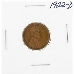 1922-D Lincoln Wheat Cent Coin