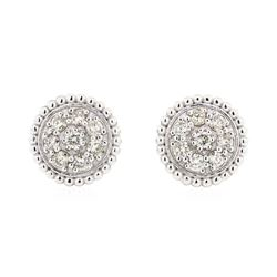 14KT White Gold 0.78 ctw Diamond Earrings