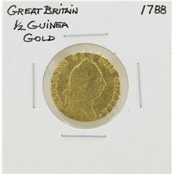 1788 Great Britain 1/2 Guinea Gold Coin