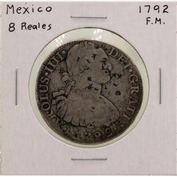 1792F.M. Mexico 8 Reales Silver Coin