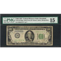 1934 $100 Federal Reserve STAR Note Fr.2152-Ddgs* PMG Choice Fine 15