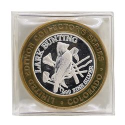 .999 Silver State of Colorado Lark Bunting $10 Casino Limited Edition Gaming Tok