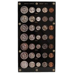 Lot of 1950-1956 (5) Coin Proof Sets