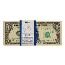 Pack of (100) Consecutive 1969 $1 Federal Reserve STAR Notes San Francisco
