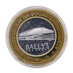 .999 Silver Bally's Las Vegas, Nevada $10 Casino Limited Edition Gaming Token