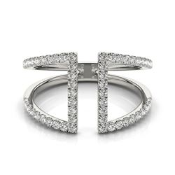 0.75 CTW Certified VS/SI Diamond Fashion Ring 18K White Gold - REF-89H8A - 28295