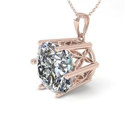 1 CTW Certified VS/SI Cushion Cut Diamond Necklace 18K Rose Gold - REF-285F2N - 35870