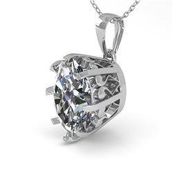 1 CTW VS/SI Oval Diamond Solitaire Necklace 18K White Gold - REF-280Y2K - 35715
