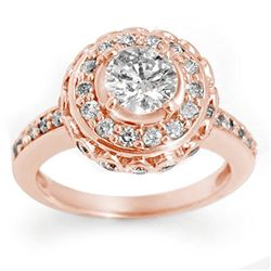 2.04 CTW Certified VS/SI Diamond Ring 14K Rose Gold - REF-285F5N - 11396