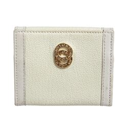 Bvlgari White Leather Coin Case