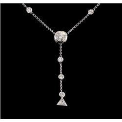 2.50 ctw Diamond Necklace - 14KT White Gold