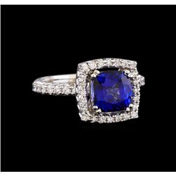 14KT White Gold 3.03 ctw Sapphire and Diamond Ring