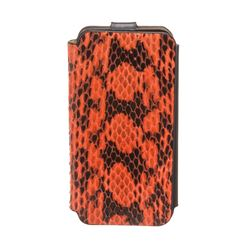 MCM Orange Snakeskin Flap Closure Iphone5 Case