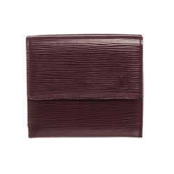 Louis Vuitton Purple Epi Leather Elise Wallet