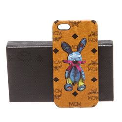 MCM Cognac Visetos Coated Canvas Rabbit IPhone5 Hard Case