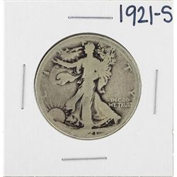 1921-S Walking Liberty Half Dollar Silver Coin