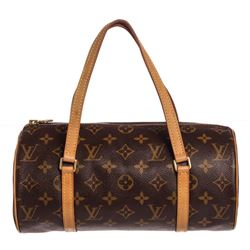 Louis Vuitton Monogram Canvas Leather Papilon 26 cm Shoudler Bag