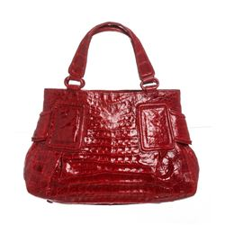Nancy Gonzalez Red Crocodile Tote Bag