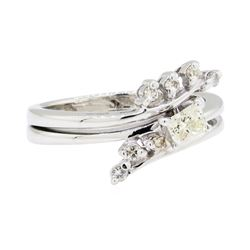 0.35 ctw Diamond Ring - 14KT White Gold