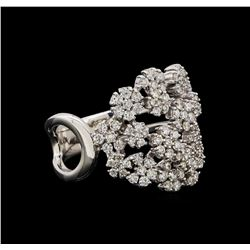 14KT White Gold 0.86 ctw Diamond Ring