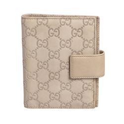 Gucci Off White Guccissima Leather Agenda Cover