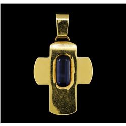 Cross Pendant -  14KT Yellow Gold