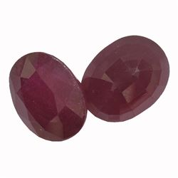 12.93 ctw Oval Mixed Ruby Parcel