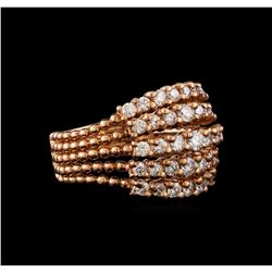 14KT Rose Gold 1.36 ctw Diamond Ring