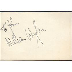 William Wyler signed card