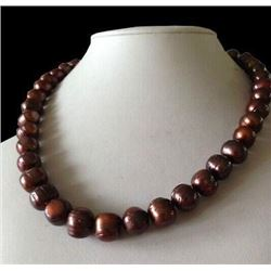 """12-13mm Natural South Sea Chocolate Pearls 18"""" Necklace"""