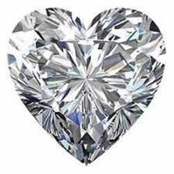 6 carat Heart Facet BIANCO Diamond