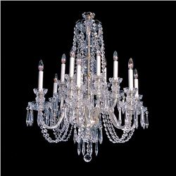 "Alexandria - 8 Light Crystal Chandelier - 28"" x 34"""