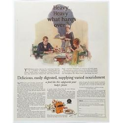1925 Grape Nuts Advertisement