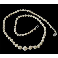 Vintage Natural 5-6-mm 14k White Gold South Sea Pearl Necklace 18 Inch