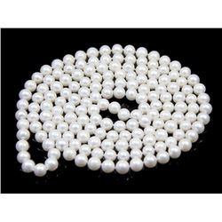 White Freshwater Cultured Pearl 7-8mm Necklace 50 Inches
