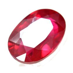 Vvs 15.20ct Natural Huge Mozambique Pinkish Red Ruby Oval Cut Gem