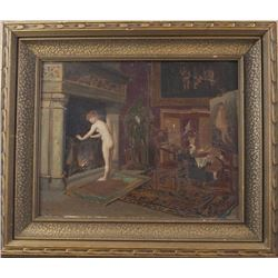 19thc French Parlor Scene