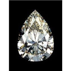 2ct Pear Cut BIANCO Diamond