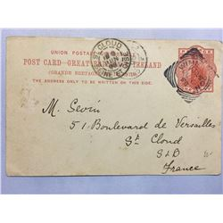 1898 London Original Postmarked Handwritten Post Card