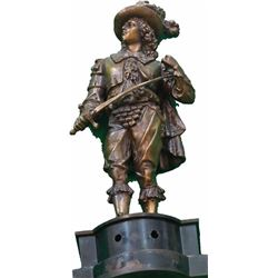 Magnificent, Monumental Cast Metal Conquistador Statue