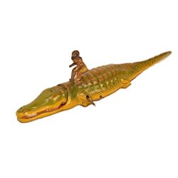 Alligator Tin Litho Wind-Up Toy