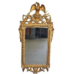 Antique and Finely Carved Giltwood Mirror